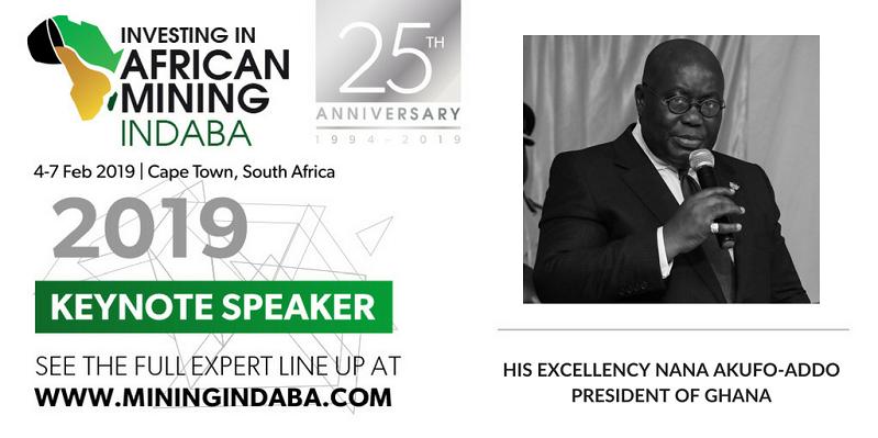 Mining Indaba confirms President of Ghana as Keynote speaker for 25th Anniversary celebration in 2019