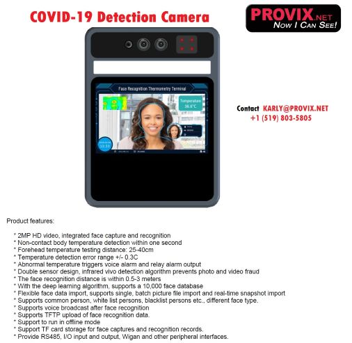 Camera systems  detects people who may have COVID-19