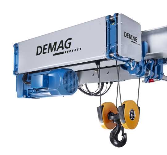 Demag wheel drives and rope hoists offer versatility and reliability