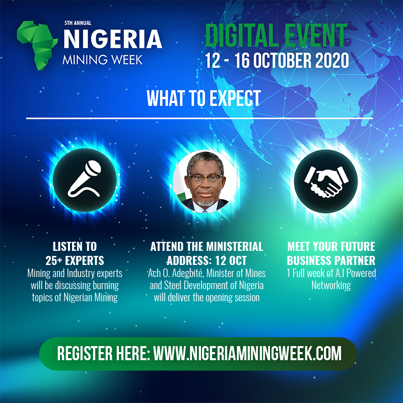 Nigeria mining week's digital event: A golden opportunity to show the way forward for country's mining industry