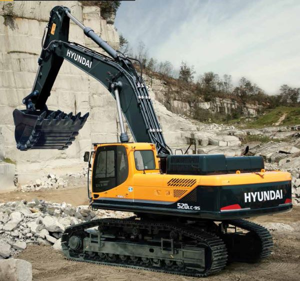 Hyundai R520LC-9S excavators offer high power and precision control in tough African conditions