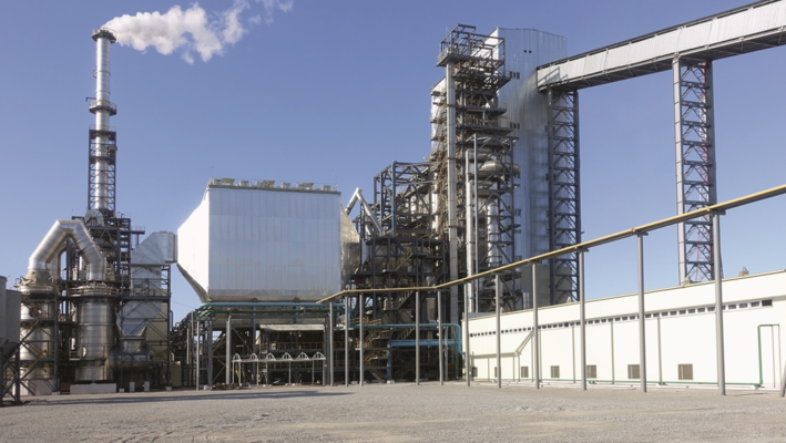 Industrial plant for oxidative roasting of gold sorption leaching tailings