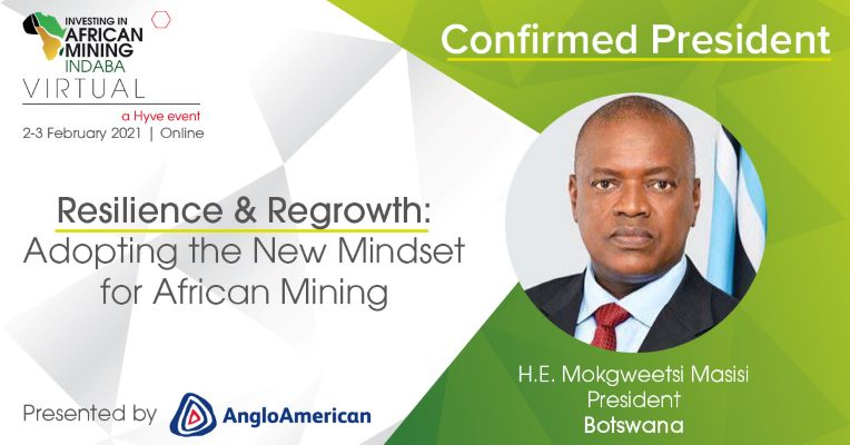 President of Botswana confirmed for Mining Indaba Virtual