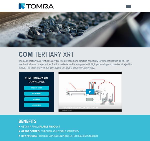 TOMRA Sorting Mining opens access to comprehensive technical information in new diamond microsite
